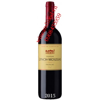 Rượu vang chateau Lynch Moussas 2015