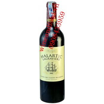 Rượu vang chateau Malartic Lagraviere 2009