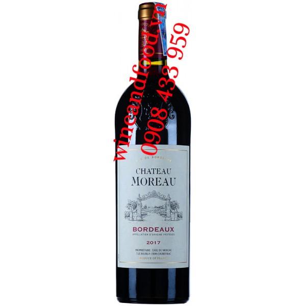 Rượu vang chateau Moreau Bordeaux 750ml