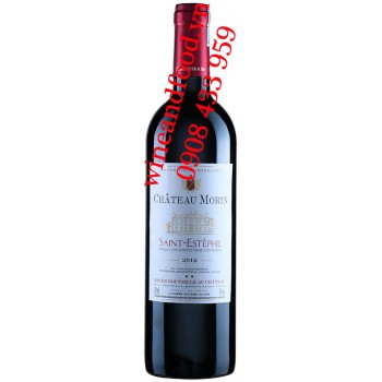Rượu vang château Morin Saint Estèphe 750ml