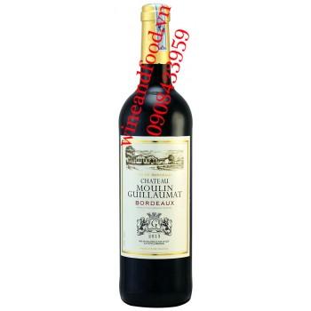 Rượu vang chateau Moulin Guillaumat Bordeaux
