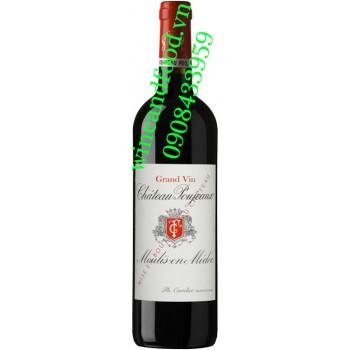 Rượu vang chateau Poujeaux 2012