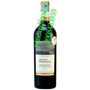 Rượu vang chateau Seguala Tautavel 750ml