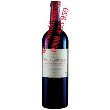 Rượu vang château Vieux Lartigue Saint Emilion Grand Cru 750ml