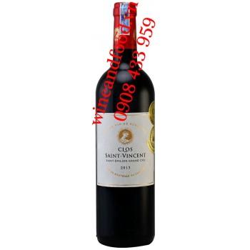 Rượu vang Clos Saint Vincent Saint Emilon Grand cru