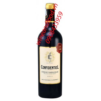 Rượu vang Confidentiel Cotes du Marmandais 750ml