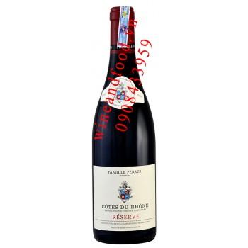 Rượu vang Cotes Du Rhone Reserve Famille Perrin 750ml