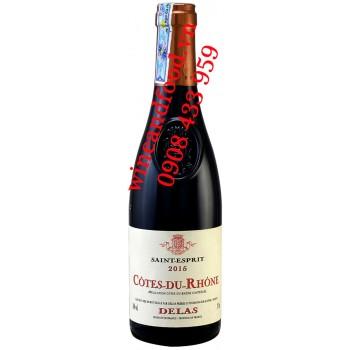 Rượu vang Côtes du Rhône Saint Esprit Delas 375ml