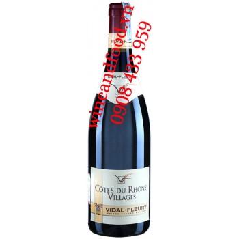 Rượu vang Côtes du Rhône Villages Vidal Fleury 750ml