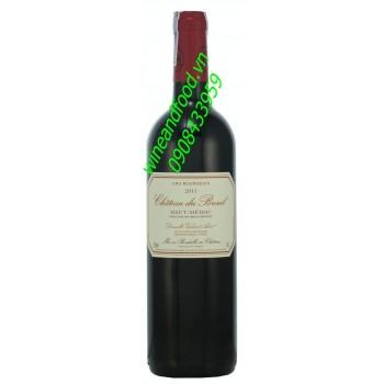 Rượu vang Cru Bourgeois chateau du Breuil 2011