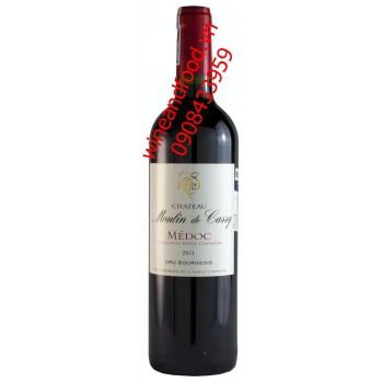 Rượu vang Cru Bourgeois chateau Moulin de Cassy 2011