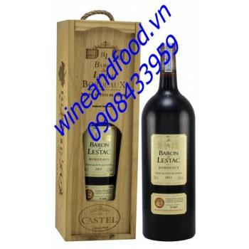 Rượu vang đỏ Bordeau Baron de Lestac 150cl