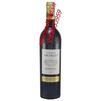 Rượu vang đỏ Bordeaux Chateau Michelet