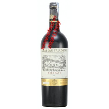 Rượu vang đỏ Bordeaux Chateau Talusson 750ml
