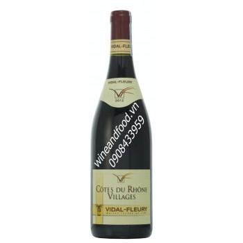 Rượu vang đỏ Cotes Du Rhone Villages 2012