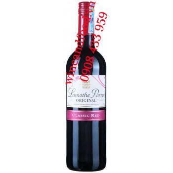 Rượu vang đỏ ngọt Lamothe Parrot Original classic Red 750ml