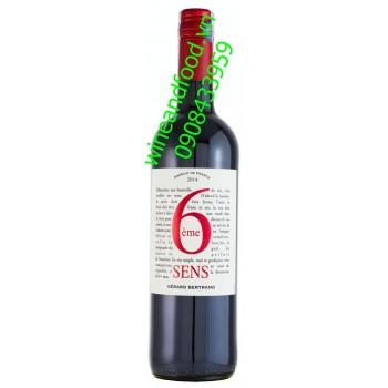 Rượu vang Gerard Bertrand 6eme Sens Rouge 2014