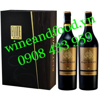 Rượu vang Hommage à Roger Bouey Medoc hộp 2 chai