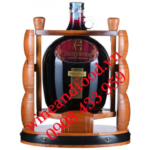 Rượu vang L'empereur Prestige Cabernet Sauvignon kệ gỗ 3 Lít