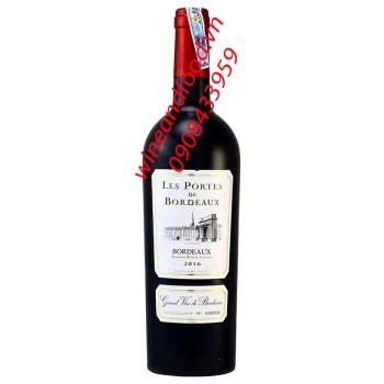Rượu vang Les Portes de Bordeaux 750ml