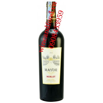 Rượu vang Mayor Merlot Pay's D'OC 750ml