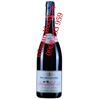 Rượu vang Parallèle 45 Paul Jaboulet Ainé Organic Côtes Du Rhône