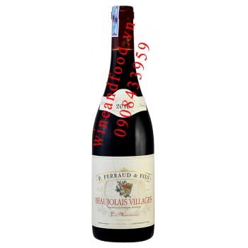 Rượu vang P. Ferraud & Fils Beaujolais Villages 750ml