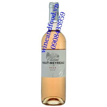 Rượu vang chateau Haut Meyreau Rosé hồng 750ml