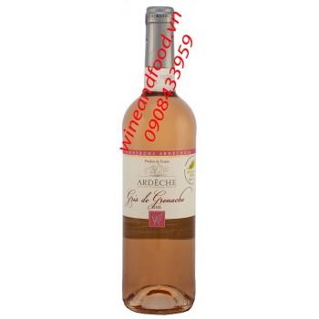 Rượu vang hồng Ardeche Gris de Grenache