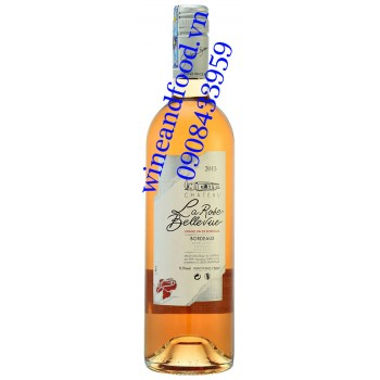 Rượu vang hồng chateau La Rose Bellevue 750ml