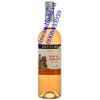 Rượu vang hồng Gris de Cabernet Rose Ardeche 750ml