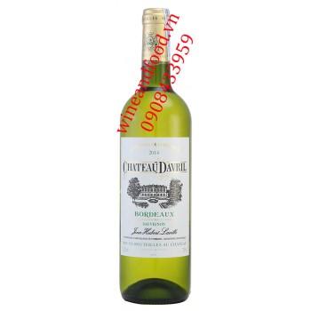 Rượu vang trắng chateau Davril Bordeaux 750ml