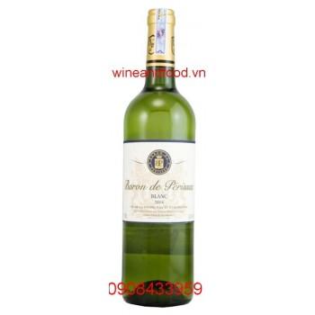 Rượu vang Baron de Perisson Blanc 2014