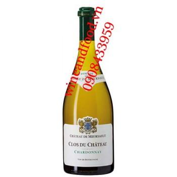 Rượu vang Bourgogne Clos du chateau chateau de Meursault