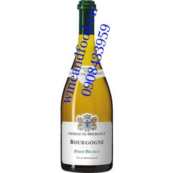 Rượu vang Bourgogne Pinot Beurot chateau de Meursault trắng