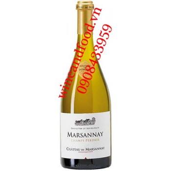 Rượu vang chateau de Marsannay Champs Perdrix Bourgogne trắng