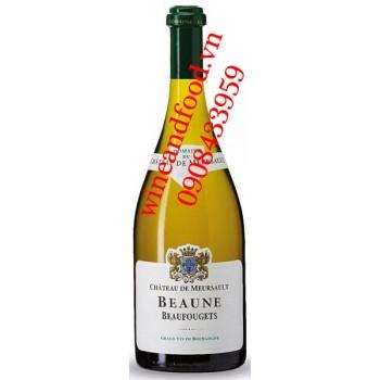 Rượu vang Chateau de Meursault Beaune Beaufougets trắng