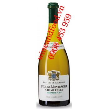 Rượu vang trắng Chateau De Meursault Puligny Montrachet Champ Canet