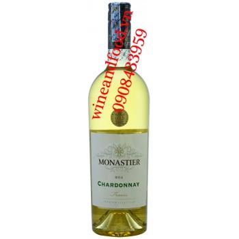 Rượu vang Monastier Chardonnay trắng 750ml