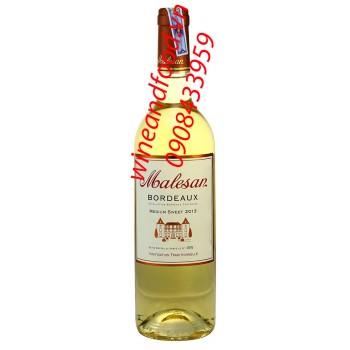 Rượu vang ngọt Malesan Bordeaux 750ml