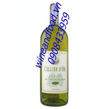 Rượu vang trắng Cellier D'Or Côtes de Gascogne 2013
