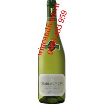 Rượu vang trắng Chablis 1ER Cru Cote De Léche 750ml
