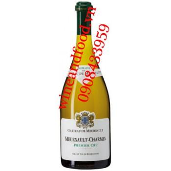 Rượu vang trắng Charmes Premier Cru chateau de Meursault 750ml