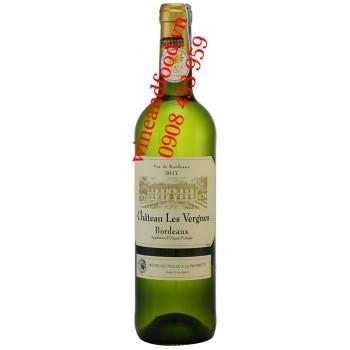 Rượu vang trắng chateau Les Vergnes Bordeaux 750ml