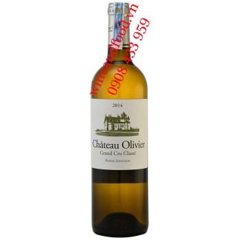 Rượu vang trắng chateau Olivier Grand Cru Classe 2014