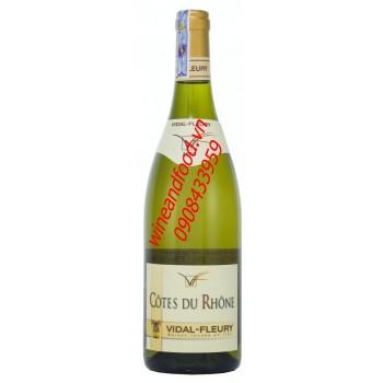 Rượu vang trắng Côtes du Rhône Vidal Fleury 2013