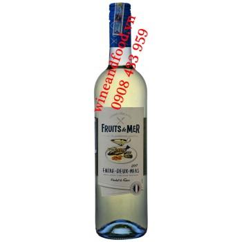 Rượu vang trắng Fruits de Mer Entre Deux Mers Gourmet Père & Fils 750ml