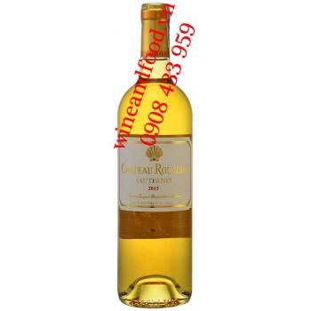 Rượu vang trắng ngọt chateau Roumieu Sauternes 750ml