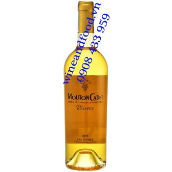 Rượu vang trắng ngọt Mouton Cadet Reserve Sauternes 750ml
