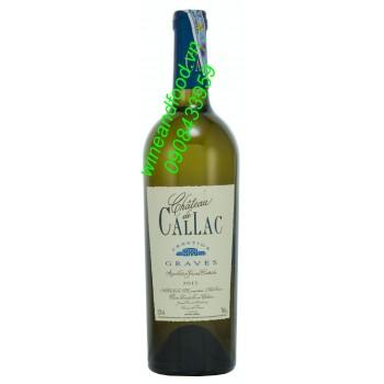 Rượu vang trắng Prestige Graves chateau de Callac 2013